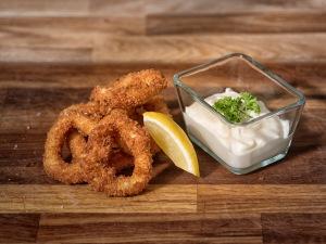 Calamares con mayonesa de limón -