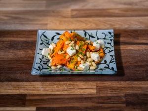 Zanahoria a la plancha con feta-